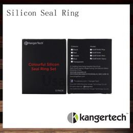 Kangertech Colorful Silicone Seal O Ring Set For Kanger Subtank Plus Atomizer Sutank Mini Sutank Nano Clearomizer O Rings Set