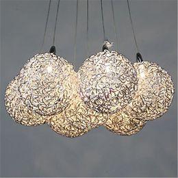 Wholesale Ceiling Pendant Lamp led pendant Light heads Decorative Patterns Aluminium Crystal Lamp Study Room Light Master Light Aluminium Ball Light