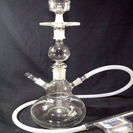Hot Selling Arab Hookah Pipe Built-in LED Light And With One Hose Oil Rig Water Pipe Glass Bong