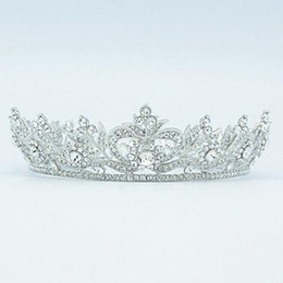 Fashion Clear Rhinestone Round Flower Tiara Crown for Bridal Wedding