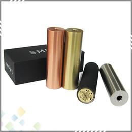 Wholesale E Cigarette SMPL Mod Full Machanical Mods Red Copper SS Black Brass SMPL Mod for Battey Clone SMPL Mods Thread Fit RDA Atomzier