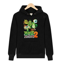 Wholesale Plants VS Zombies big white pattern clothes Sweater autumn children s clothing cotton with a hood fleece