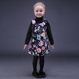 Pettigirl Retail Spring Printed Girls Dress Sleeveless Girls Floral Dresses Fancy Cute Kids Boutique Clothing GD80928-8