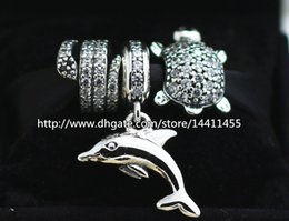 925 Sterling Silver Charms and Murano Glass Bead Set Fits European Pandora Jewelry Charm Bracelets-Animals Sets