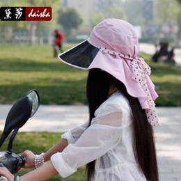 Wholesale Large brim sunbonnet women s cycling cap summer sun hat outdoor anti uv female hat