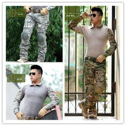 Wholesale Fall Army Outdoors Sports US clothes frog Airsoft men tactical jacket or pants military uniform Navy seals combat suit protective CP