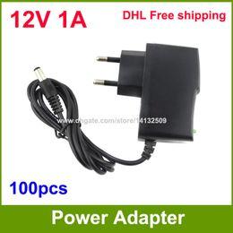 AC DC 12V 1A Power Supply adapter 12V Adaptor For CCTV Cameras EU   US Plug High Quality 100pcs Fedex   DHL Free shipping