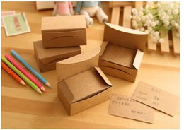 Wholesale New blank kraft paper message card Notepad memo pads label marker dandys