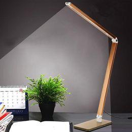 Wholesale Foldable Metal Reading W Dimmer Bright LEDs Desk Lamp Table Lighting Toughened Glass Base Power Night Vision Led Lamp AC220V