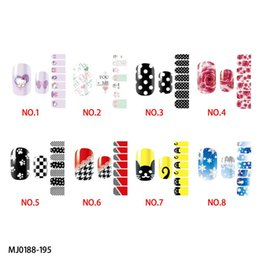 Wholesale 2015 top quality nail sticker red rose and Snowflake photos design fingers stickers decals beautiful and cute pictures