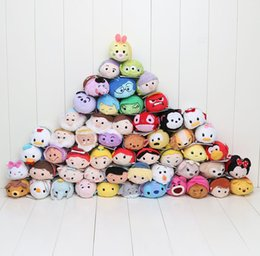 Wholesale 50pcs cm Mini Tsum Tsum Plush Toy Thumper Doll Stitch Mermaid Sully Cute Elf Screen Cleaner for Juguetes Set