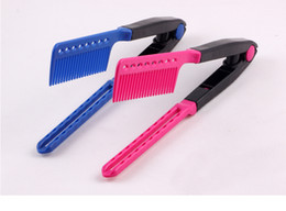 Hot Magic Hair Style Salon Comb Brush V Folded Dry Dryer Iron Straight Bouffant Curling Care Free Shipping