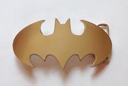 Wholesale chrome batman logo belt buckle