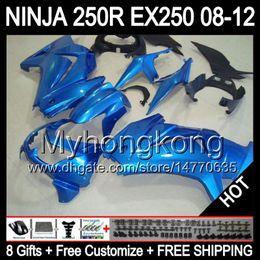 100%NEW Top For KAWASAKI ! NINJA 250R 08 09 10 11 12 ZX250R Sky blue ZX250 R #2 Y1298 2008 2009 2010 2011 2012 Sky blue ZX 250R Fairing