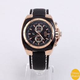 La montre-bracelet pour hommes en Ligne-Vogue V6 Strips Heure Marques ronde Dial Silicone Montre hommes homme de luxe Quartz montre-bracelet pour le cadeau
