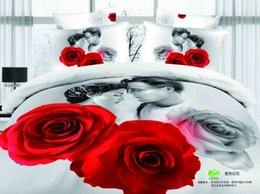 Romantic love Jack and Rose bedding bed linens cotton queen with reversible duvet cover flat sheet pillowsham 4 5pc comforter sets coverlets