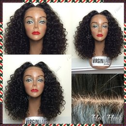 Wholesale Freeshipping Afro Kinky Curly Human Hair Glueless Silk top Full lace wigs Best natural looking hairline SKin Color