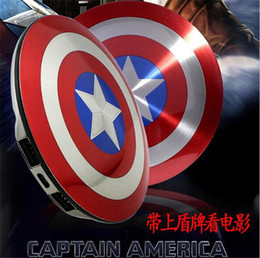 Wholesale Captain America Power bank for iphone samsung mobile phone mah Universal Portable external battery pack popular