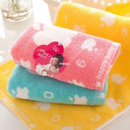 Wholesale 50pcs shares towel factory direct cotton towel infant child apple digital home merchandise baby towel