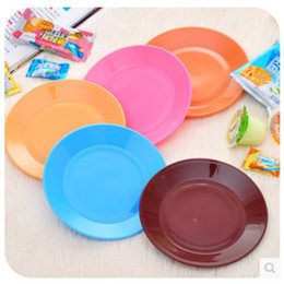Wholesale Dazzle Colour Food Grade Plastic Tableware Serving Snacks Seeds Flat Plates Snack plate Plain Disposable Party TABLEWARE BBQ Events Catering