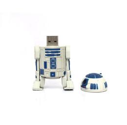 Oem flash usb à vendre-100% de capacité réelle Marque OEM 2 Go 4 Go 8 Go 16 Go 32 Go 64 Go 128 Go 256 Go Star Wars R2-D2 Robot Cartoon USB 2.0 Flash Memory Pen Drive Stick