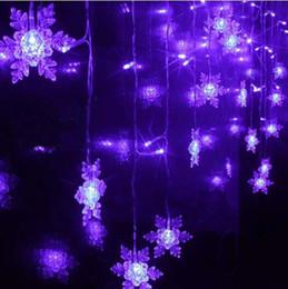 Venta al por mayor a 2015 Cadena tira de LED grande del copo de nieve decoración de boda 1.5x0.5m Flush Navidad del día de fiesta Cortina de Luz de Navidad Luminaria desde gran luz de copo de nieve fabricantes