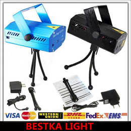 DJ Party Stage Light - 150mW Blue Mini Laser Stage Lighting 110V-240V Mini Green&Red Black Disco Dance Floor Lights