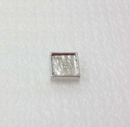 5mm inner 7mm outside diameter Silver Blank Square Floating Charms for Glass Living Locket DIY photo Charms for making jewelry