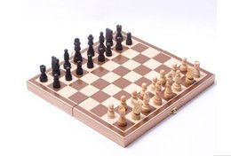 Wholesale Good quality Classic Wooden International Chess Set Board Game Foldable
