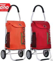 Wholesale New style Foldable light weight portable Aluminum holder L super large volume shopping trolley cart