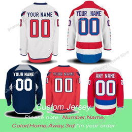 Wholesale Factory Outlet Men Custom White Red Blue Personalized Home Away Alternate Washington Capitals Stitched Adding Special Patches Ice Hockey Je