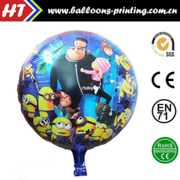 Wholesale 50pcs alumnum balloons Festival party supplies Sell like hot cakes inch aluminum foil helium balloon round small yellow people rushed he