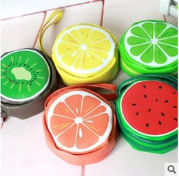 Novelty Fresh Fruit Design Big Coin Purse Key Wallet Tote Bag Birthday Gift Storage Organizer Bag