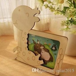 Wholesale DIY Photo Frame Deer pattern Magic wood Wooden children baby small cartoon photo frame Picture frame gift fashion simple style freehshipping