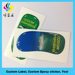 Wholesale china high quality smile 3d epoxy resin sticker crystal sticker label printing