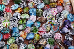 JACK88 Wholesale Snap Jewelry 50pcs lot Life Trees Pattern Snap Buttons For Snap Button Jewellery 18mm Mixed M787