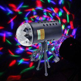 Wholesale Led Light Projectors Sale - ON SALE X12PCS Mini Laser Projector Light Full Color LED Crystal Voice-activated Rotating RGB Stage Light Home Party Club DJ Show 85V-260V