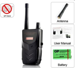 Wholesale professional Wireless Tap Detector Hidden Video Camera and Audio Signal Bug Detector Anti spy device RF Hunter Sound