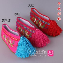 Wholesale Flat embroidered shoes women embroidered shoes actress to do the costume children shoes