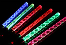 100pcs Lot Colorful LED light Wave Sticks Glowing Screw Stick Acrylic LED Flash Stick Light Up Toys Wedding Birthday Concert Props