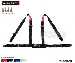 Wholesale Tansky universal JDM Car Auto Racing Sport cinturón de seguridad del arnés de seguridad Correa Azul Rojo Negro Gris TK SP2I