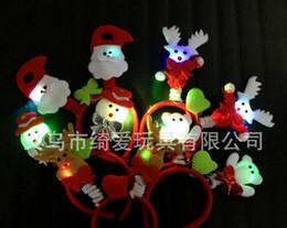 The new luminous Christmas hair band Santa Claus hairpin Christmas ornaments Christmas decoration Christmas gifts wholesale