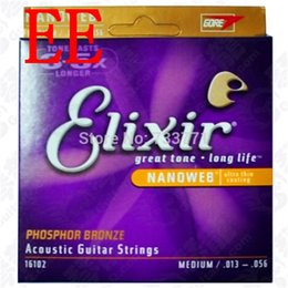 Wholesale Elixir Nanoweb Medium Phosphor Bronze Acoustic Guitar Strings