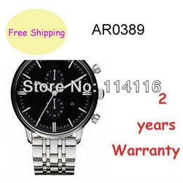 Wholesale NEW AR0389 AR CLASSIC STAINLESS STEEL BLACK DIAL MENS WATCH ORIGINAL BOX