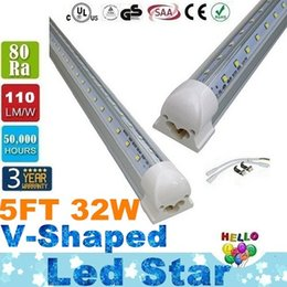 Wholesale Stock In USA W T8 FT V Shaped Led Tube Lights Cooler Door Integration Led Fluorescent Lamp AC V UL