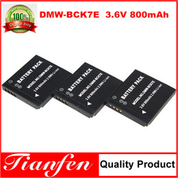 Wholesale 3PCS mAh DMW BCK7E DMW BCK7 Camera Battery For Panasonic Lumix DMC FH25 FS35 FH27 FP7 S1 S3 FX90 FH7