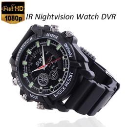Acheter en ligne Caméra 8gb-Imperméable à l'eau 8 Go Full HD 1080p regarder la caméra cachée DVR avec IR caméra fonction de vision nocturne, montre étanche à l'eau avec caméra cachée