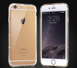 Shakeproof soft Plastic TPU clear crystal transparent Ultra Thin back cover case for iphone 6 6plus 6S