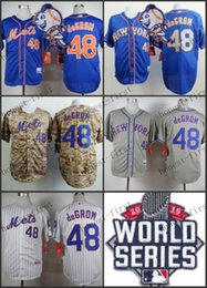 Wholesale 2015 World Series Patch Jacob deGrom New York Mets Home Road Wholesales Cheap American baseball jerseys Embroidery Logo Mix Order