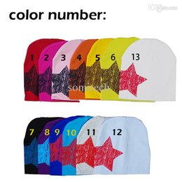 Wholesale Retail sale hot fashion Only Big Star Cotton Beanie Hats Skull Cap Toddler Infant Baby Kids cap